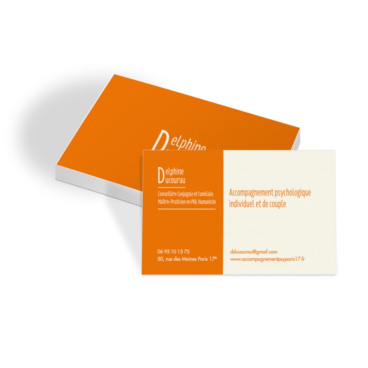 Cartes de visite Delphine Ducourau