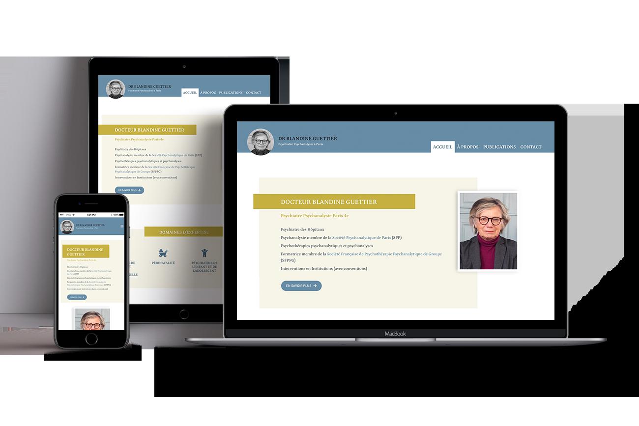 Site responsive psychiatre Paris